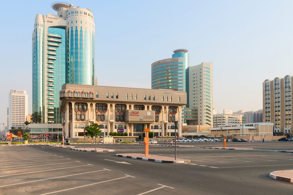 Dubai Land Department office and nearby buildings