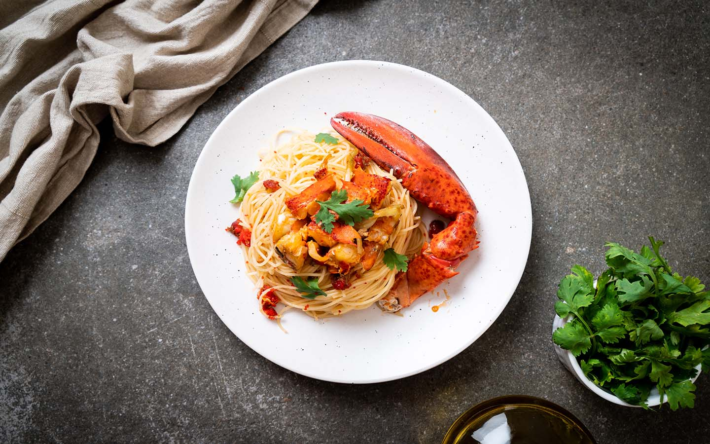 Italian Pasta with shrimps and lobsters