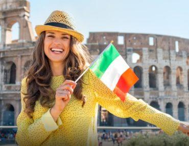فتاة في ايطاليا