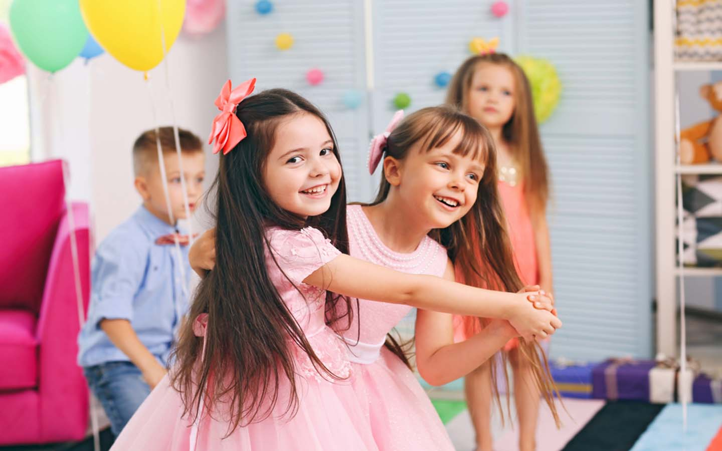 A group dance class for kids