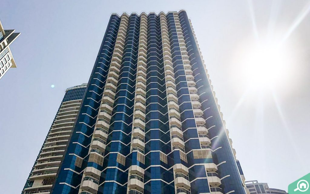 View of New Dubai Gate, one of the best buildings with apartments for sale in JLT