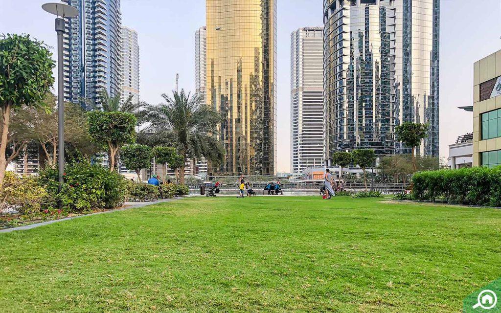 A view of JLT Park
