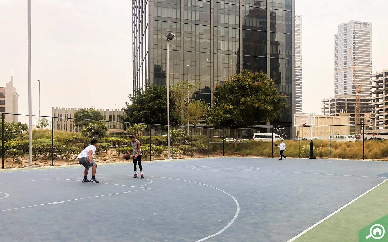 JLT park basketball court