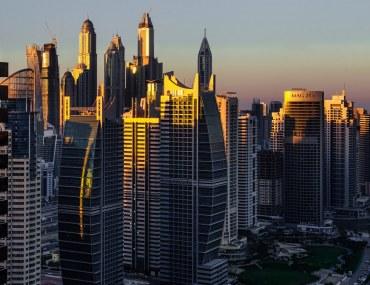 Skyscrapers in Jumeirah Lakes Towers