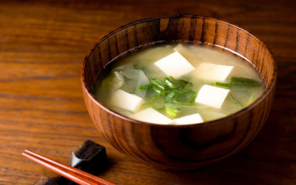 piping hot miso soup