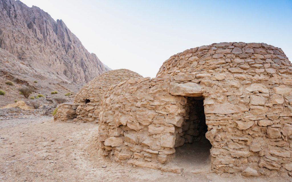 Beehive-shaped Jebel Hafeet Tombs
