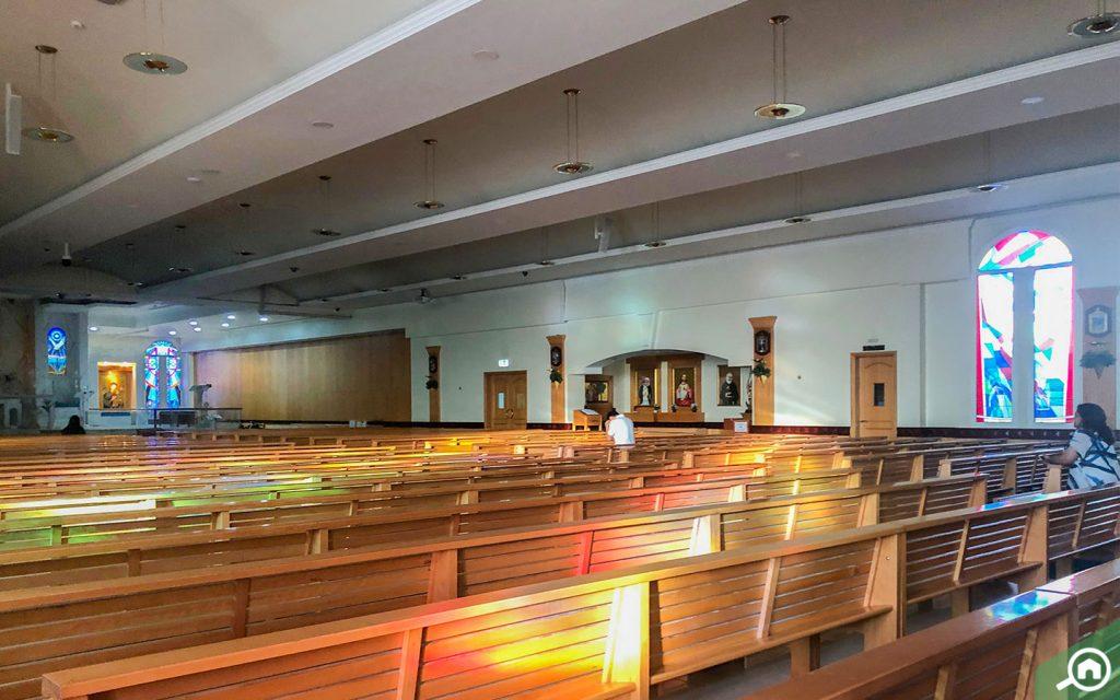 The interiors of the jebel ali church