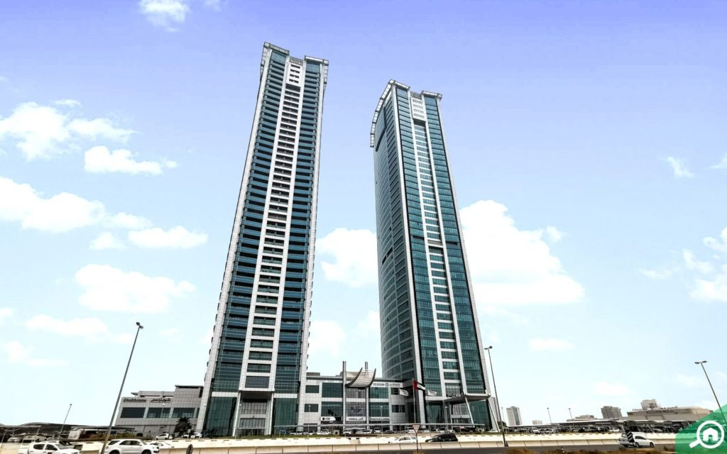 View of Julphar Towers, which have studio apartments for rent in Ras Al Khaimah