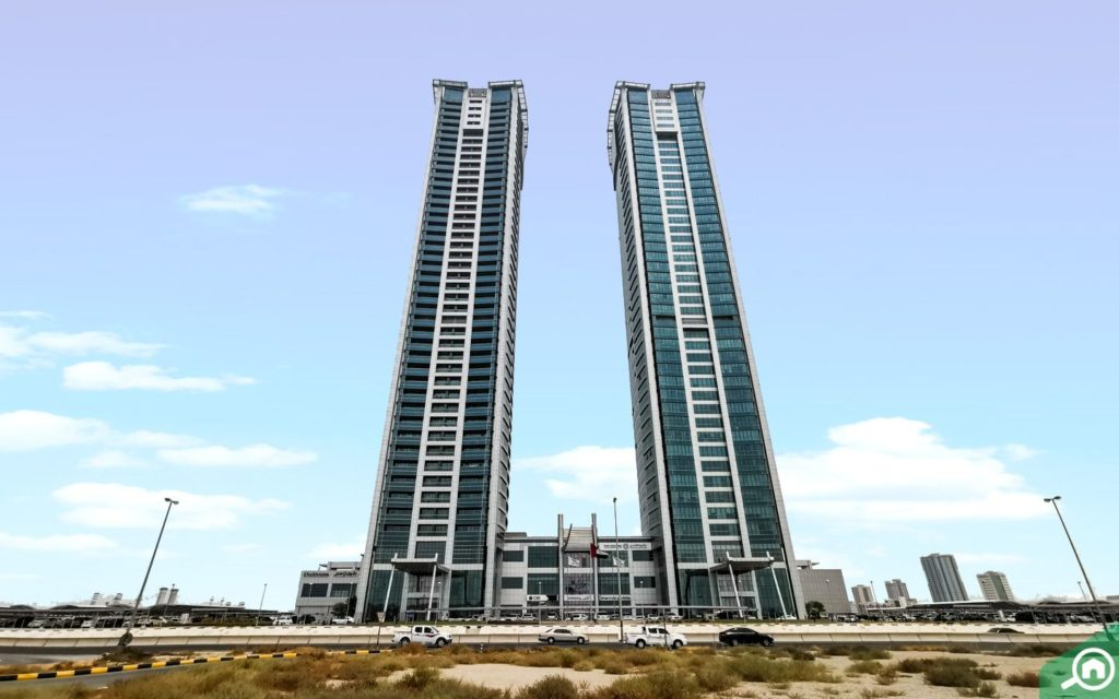 View of Julphar Towers freehold apartments in Ras Al Khaimah