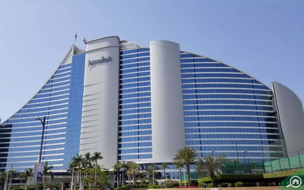 The Jumeirah Beach Hotel building