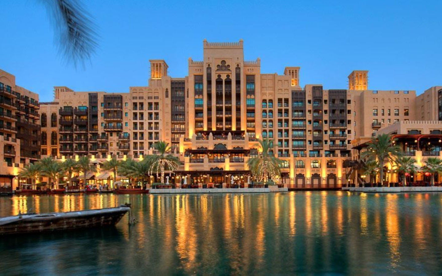 View of the canals and Jumeirah Mina A'Salam resort, which has Eid Al Adha staycations