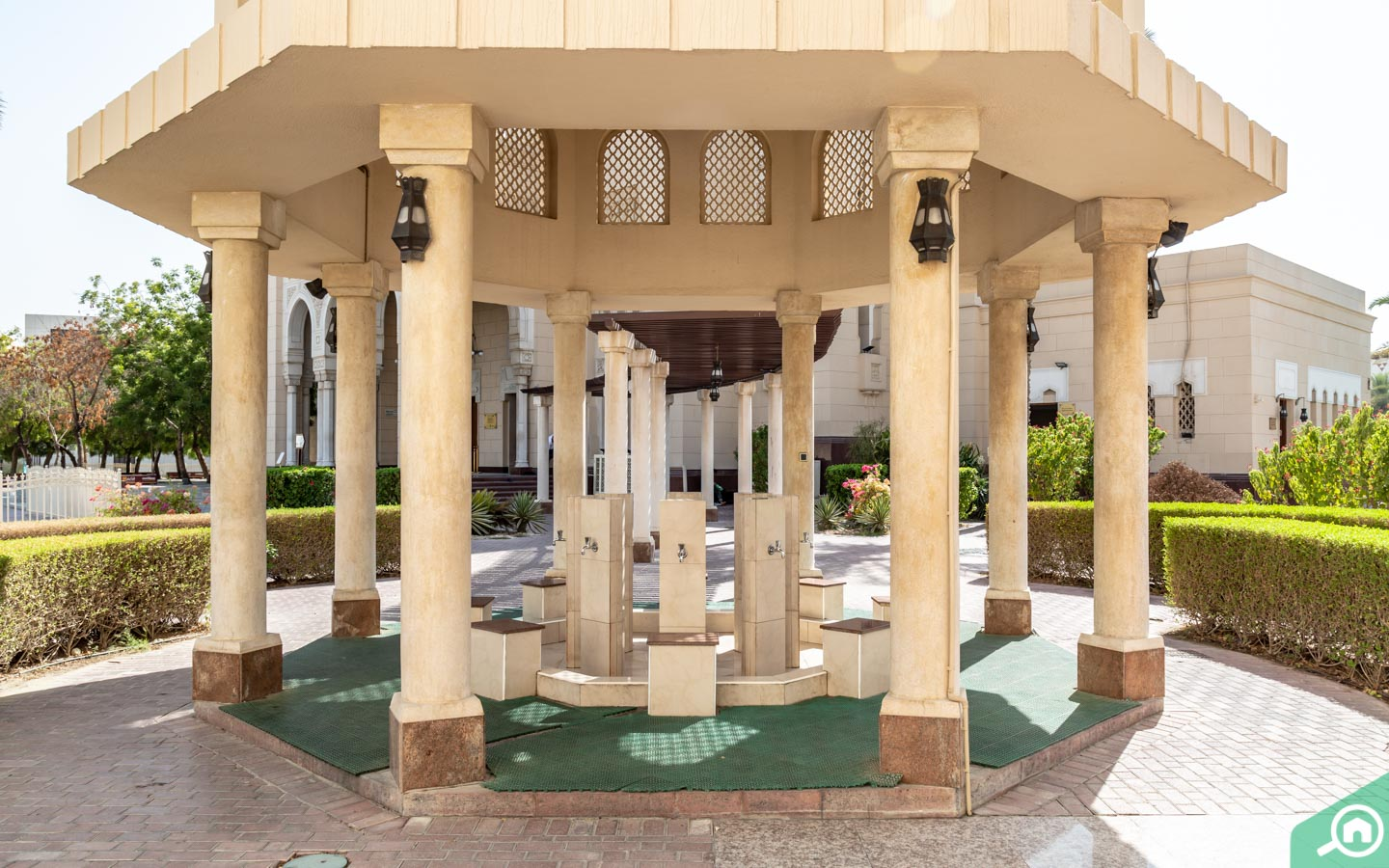 Ablution area of the mosque