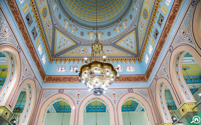 Chandelier inside Jumeirah Mosque