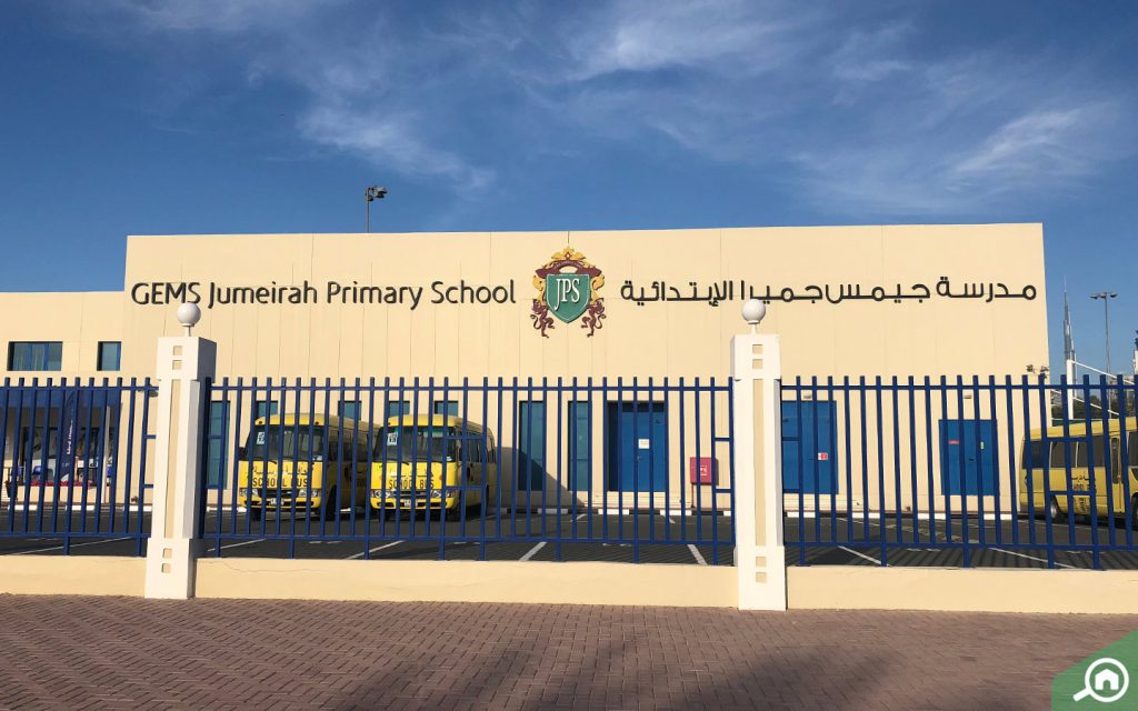 Outdoor view of GEMS Jumeirah Primary School