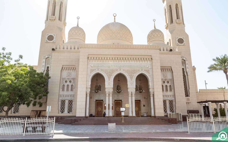 Entrance of Jumeirah Mosque in Dubai