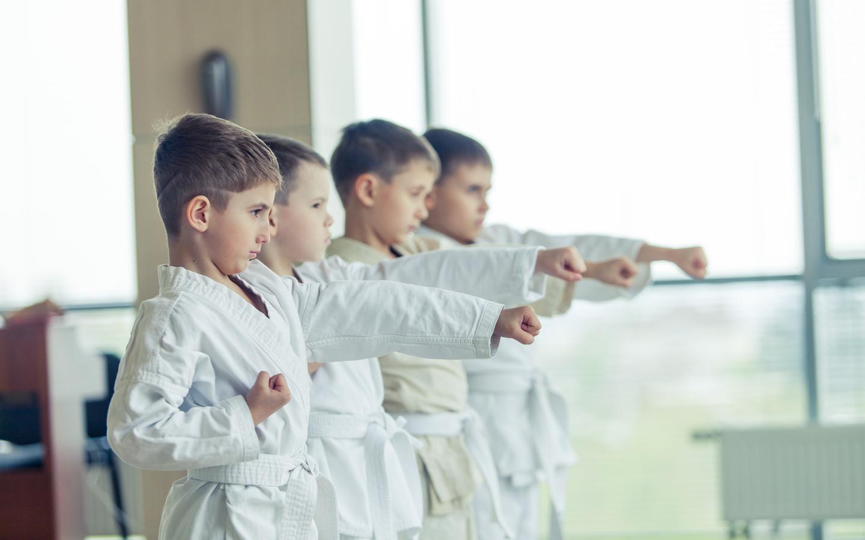 Kids in karate classes in Dubai