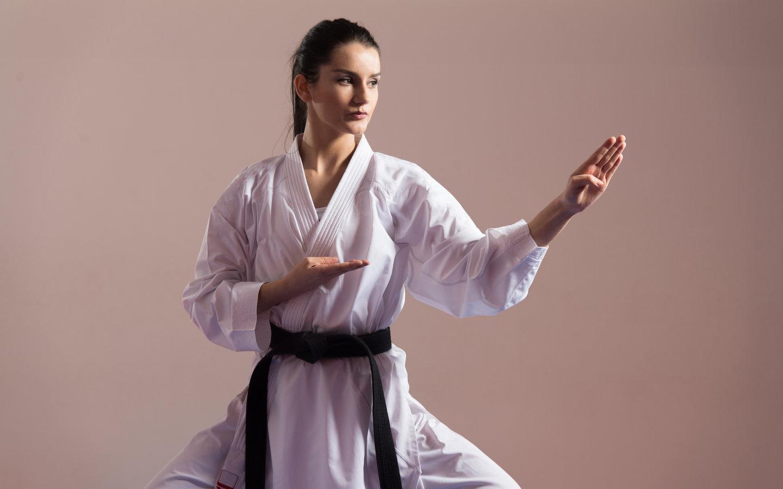 Woman practicing Karate in Dubai