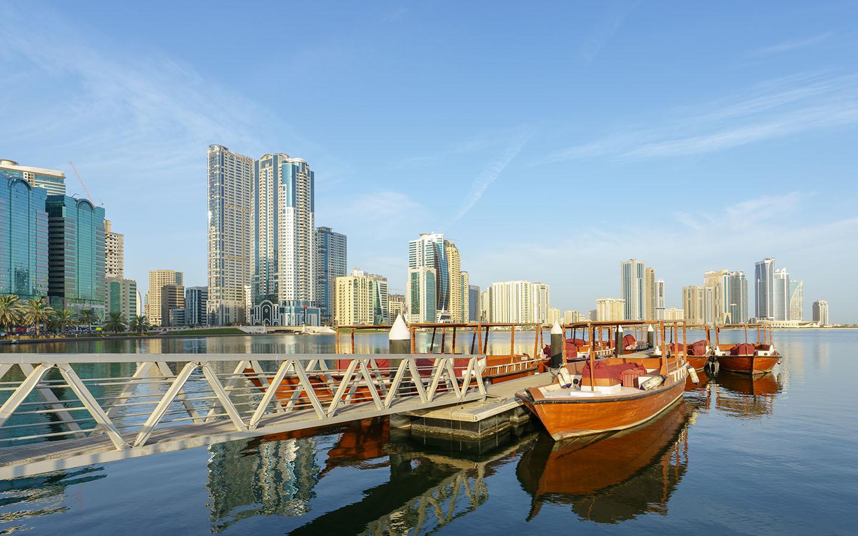 A view of Khalid Lagoon in Sharjah