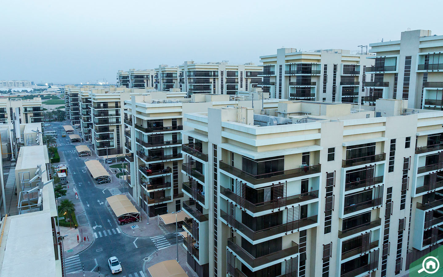 View of the Al Rayyana apartments for sale in Khalifa City A