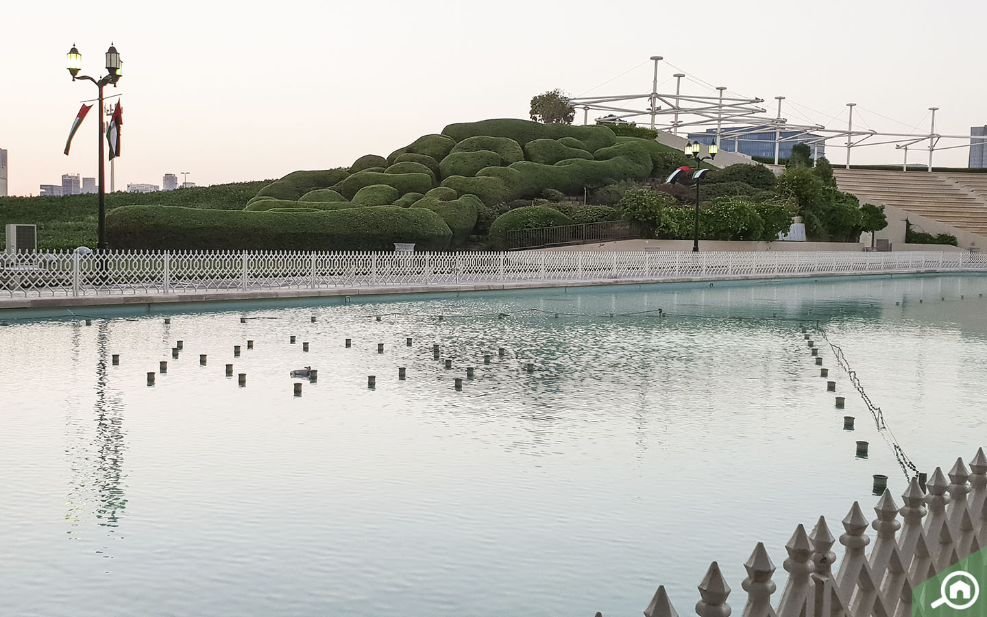 Fountains in parks in Abu Dhabi