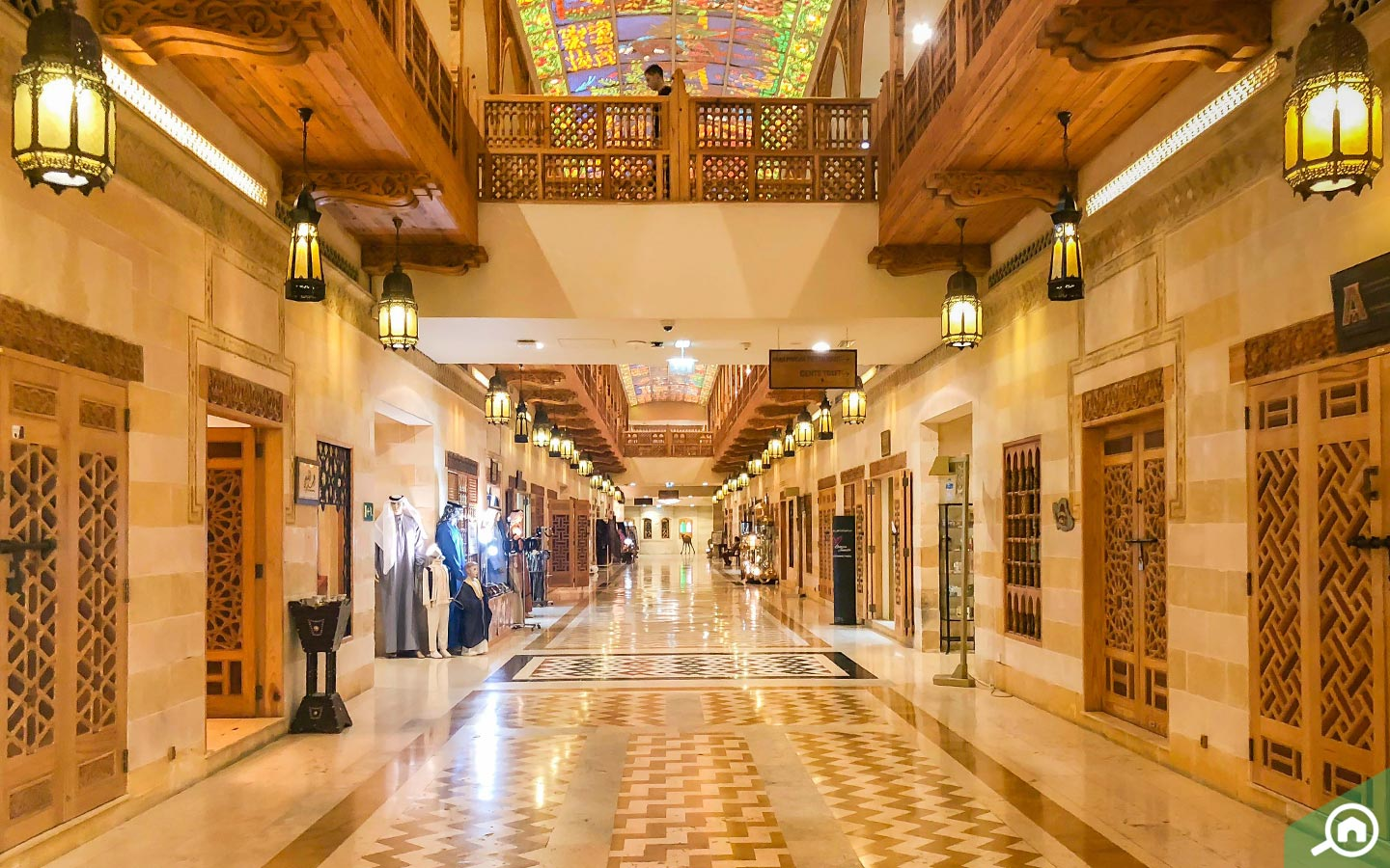 interior of khan murjan souk in dubai
