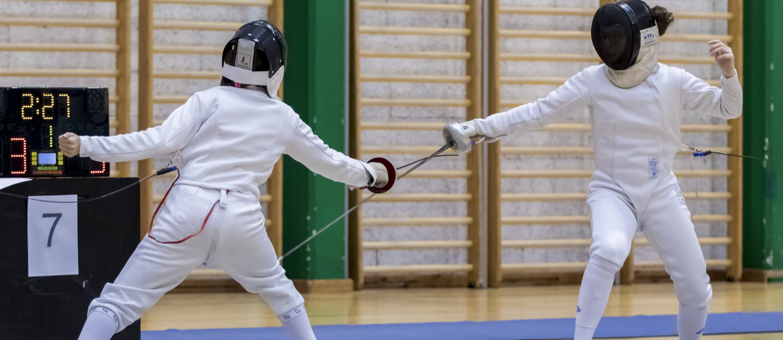 Kids fencing sport