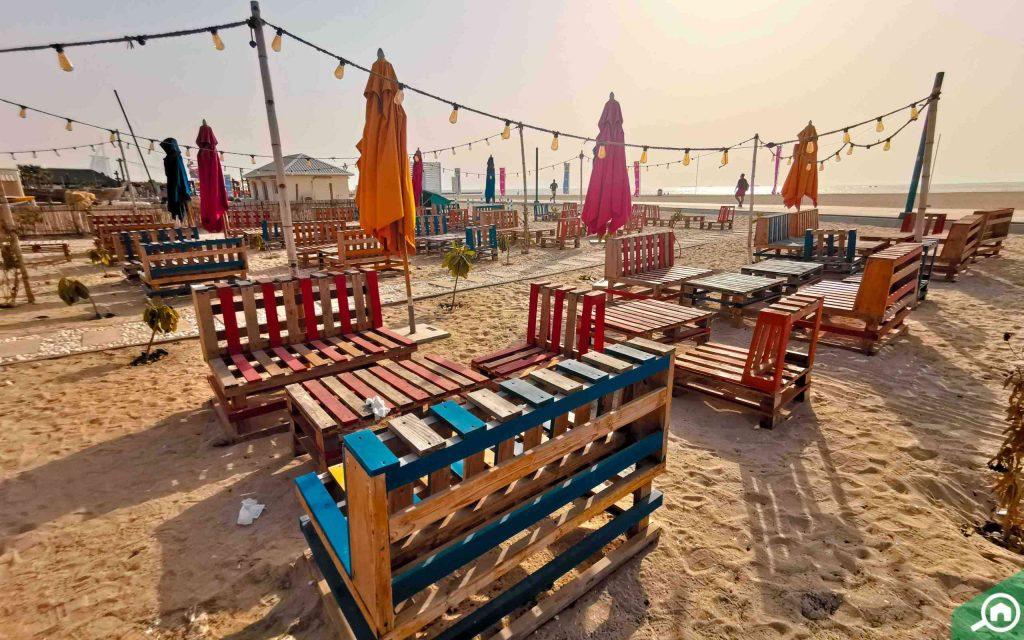 seating area in Kite Beach Dubai