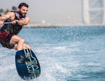 Man kitesurfing in Dubai