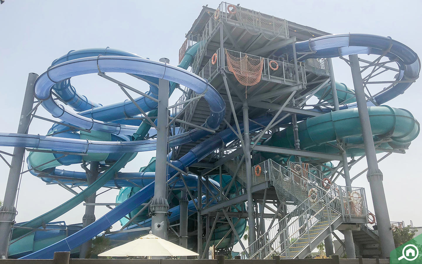 Slides at Laguna Water Park at La Mer