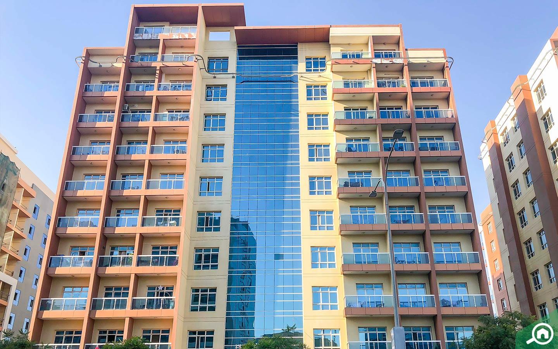 La Vista Residences building for buying apartments in Dubai Silicon Oasis