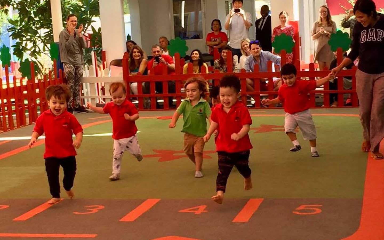 Children playing at Lady Bird Nursery in JVC