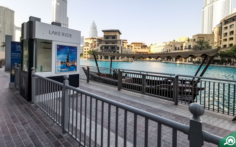 Lake ride kiosk and abra