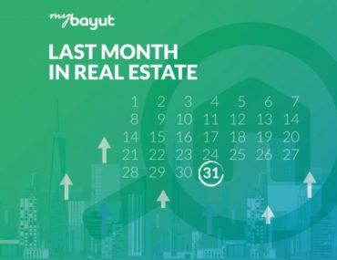 Last month in real estate calendar