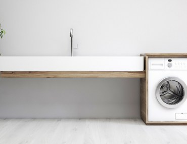 modern laundry room concept