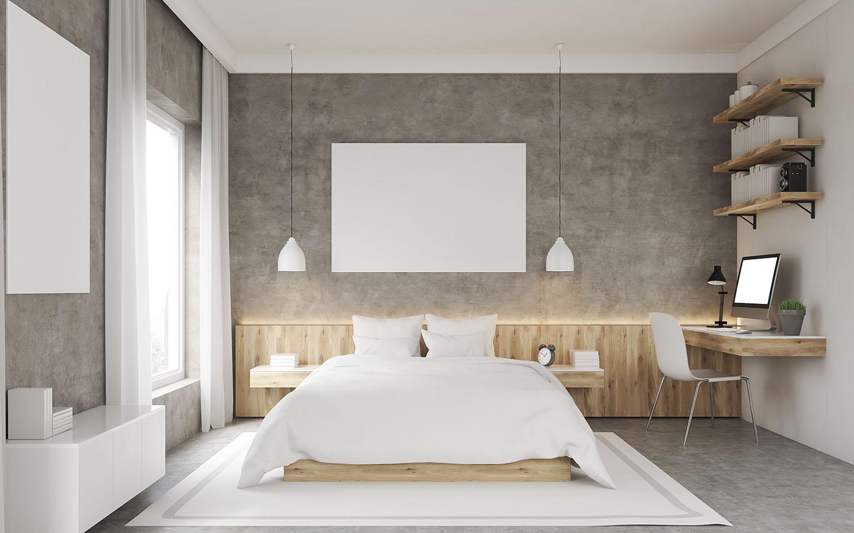 Layer lighting in bedroom.