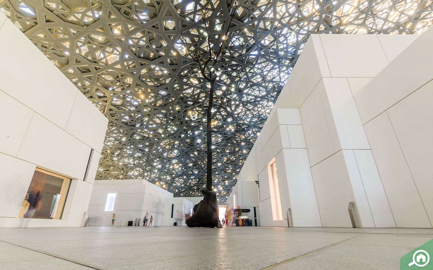 Leaves of Light - Installation at Louvre Abu Dhabi