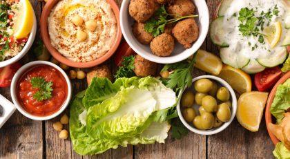 Lebanese food spread
