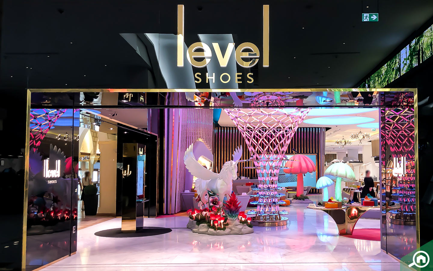 Level shoes in Dubai Mall