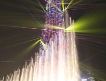 Burj Khalifa light show in Dubai
