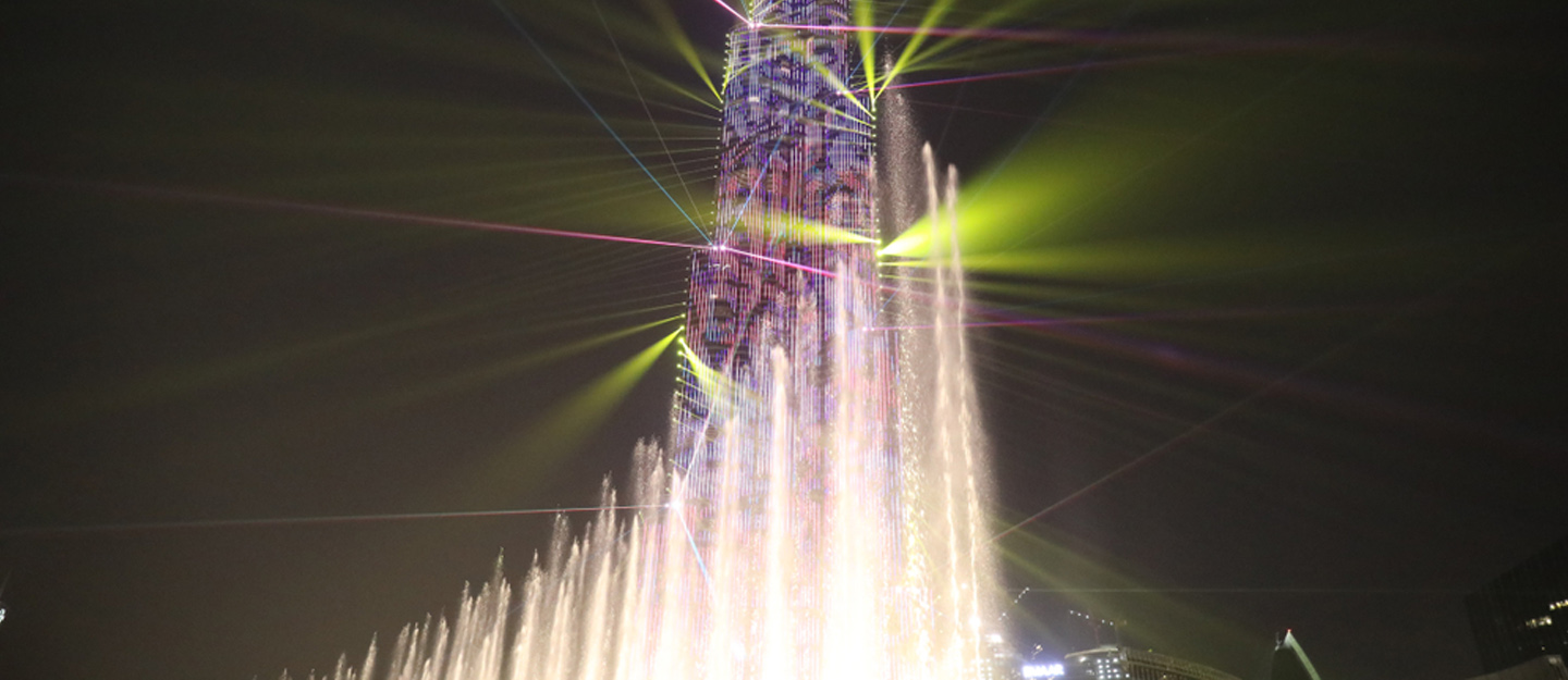 Burj Khalifa light show in Dubai