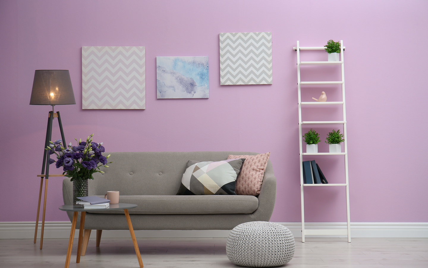 Lilac coloured wall