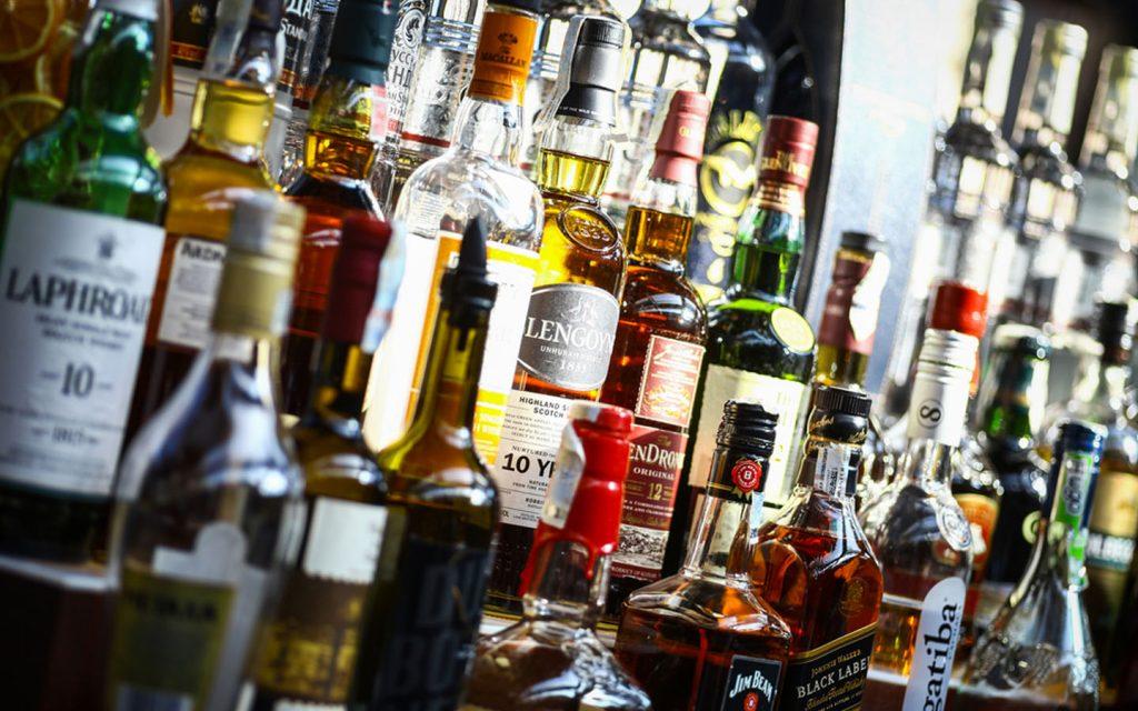 Alcoholic beverages at liquor stores in Dubai