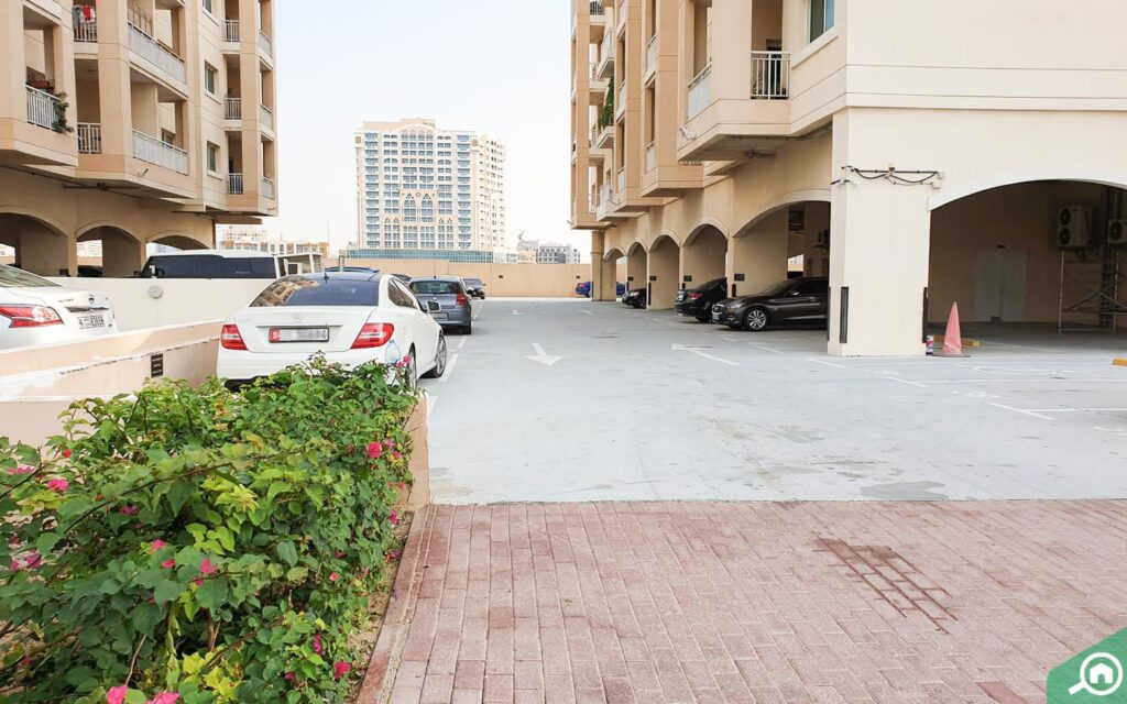 parking area in a residential building
