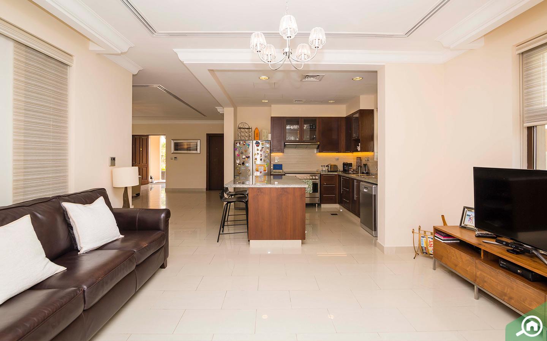 Family lounge in Arabian Ranches villa