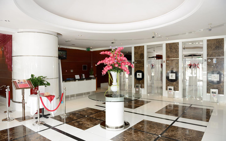 Hotel lobby of Ramada Hotels in Sharjah