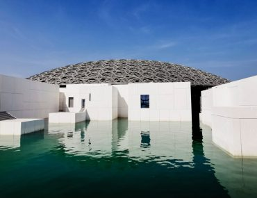 view of the Louvre Abu Dhabi