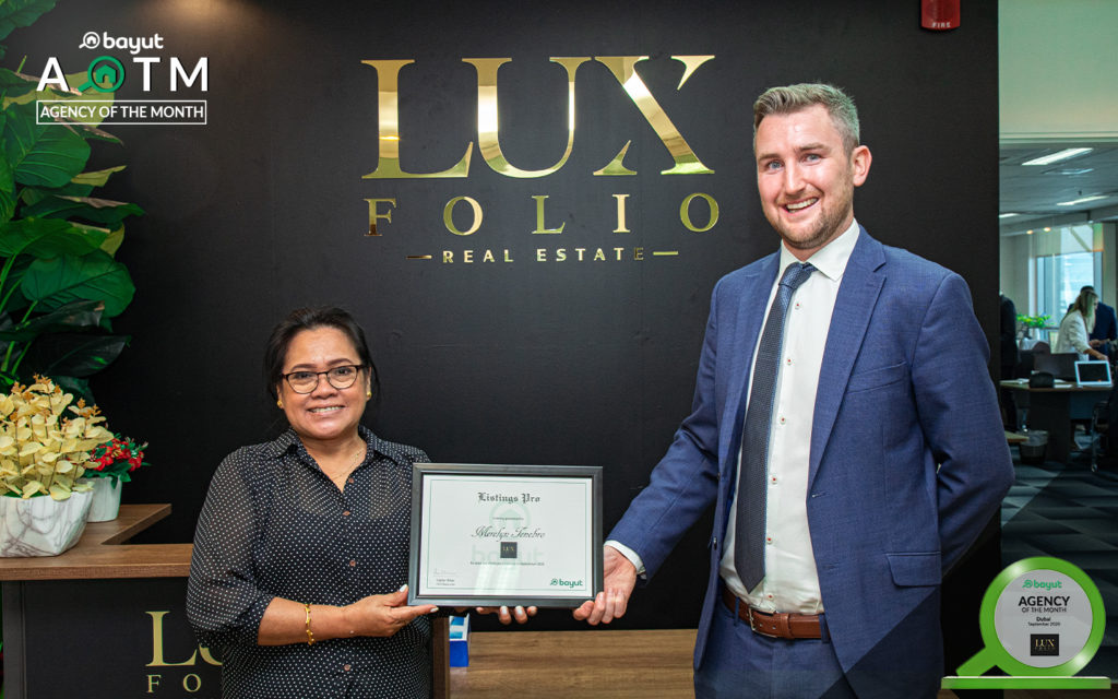 Merlyn Tenebro, Admin Manager at Luxfolio Real Estate Agency, with Bayut Team