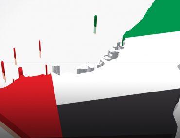 خريطة الامارات بالوان العلم