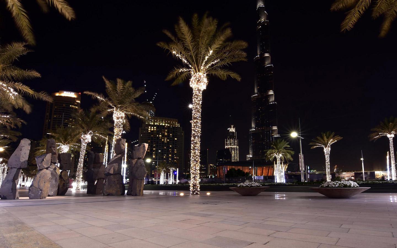 Sculptures in Mohammed Bin Rashid Boulevard