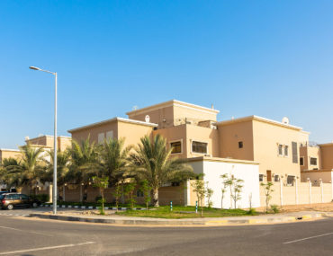 View of villas in MBZ City Abu Dhabi